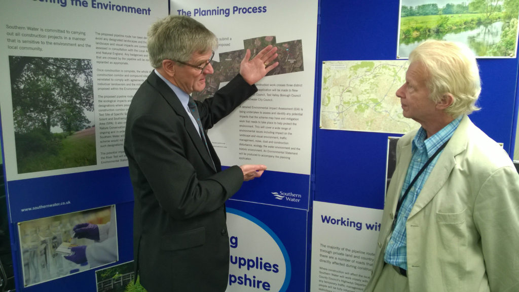 Bruce, speaking to Southern Water's Damon Elliot at the Drop-in session held at Southampton Airport in January 2016