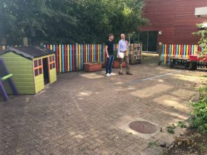 Paved play area for Pre school