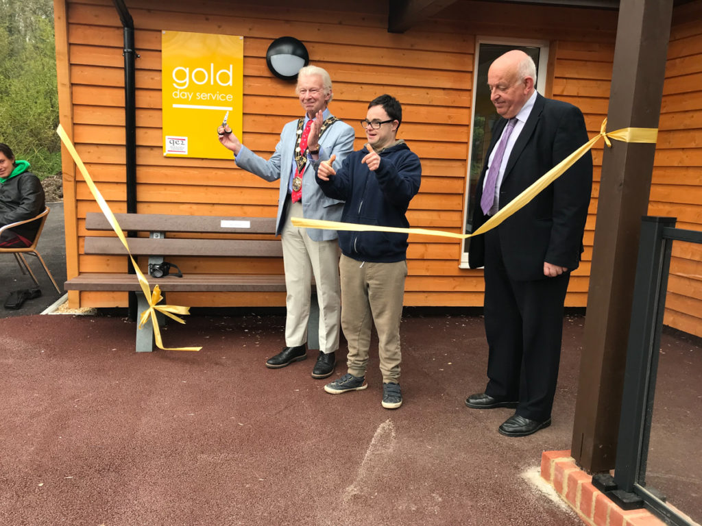 Formally opening the new Gold Day building